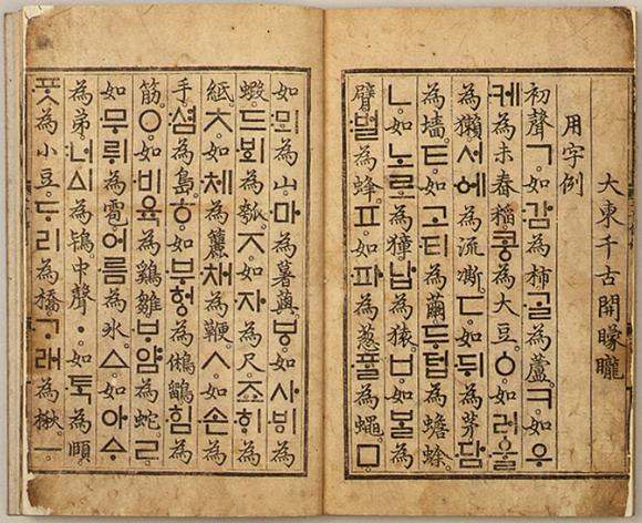 Резултат с изображение за корейска азбука Хангул.